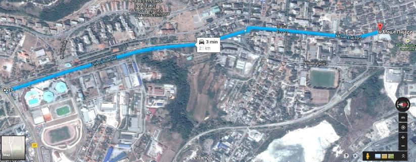 Mapa Bora centar